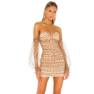 Majorelle Secret Lovers Dress off shoulder beige